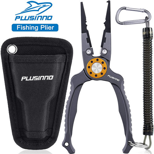 PLUSINNO 8inch Fishing Pliers, Stainless Steel Fishing Tools