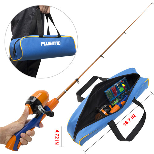 PLUSINNO ED-Kids Orange Fishing Pole with Bag
