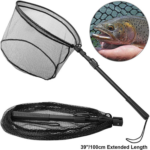 PLUSINNO Fish Landing Net-Telescopic Pole Handle N-II