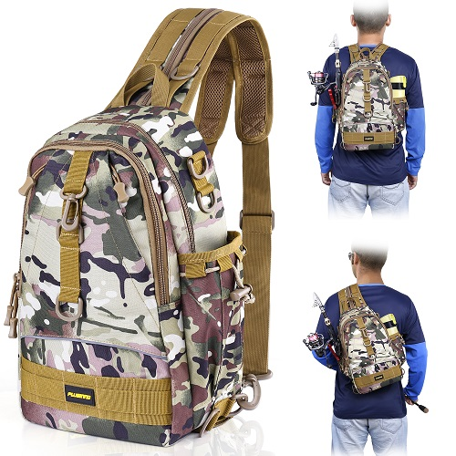 PLUSINNO Fishing Tackle Backpack Storage Bag-Italian camo