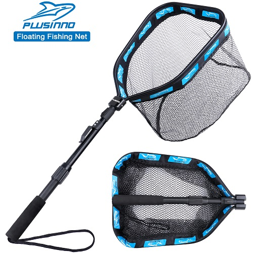 PLUSINNO Floating Fishing Net - 11.8inch 30cm Hoop Size (Telescopic Pole)