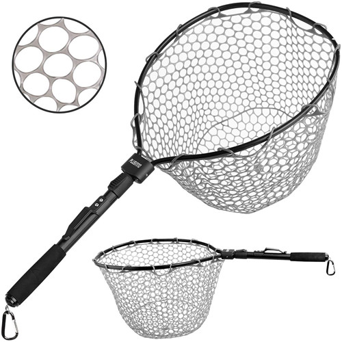 PLUSINNO Fly Fishing Net, Bass Trout Landing Net N-I