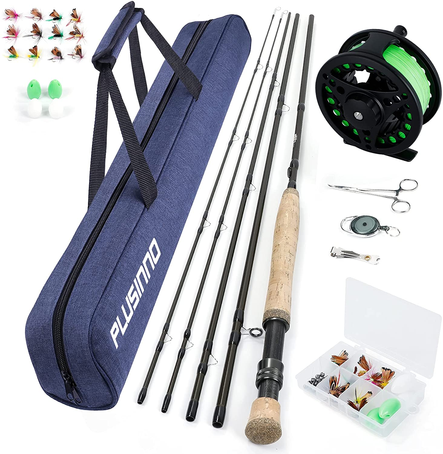 PLUSINNO Fly Fishing Rod and Reel Combos