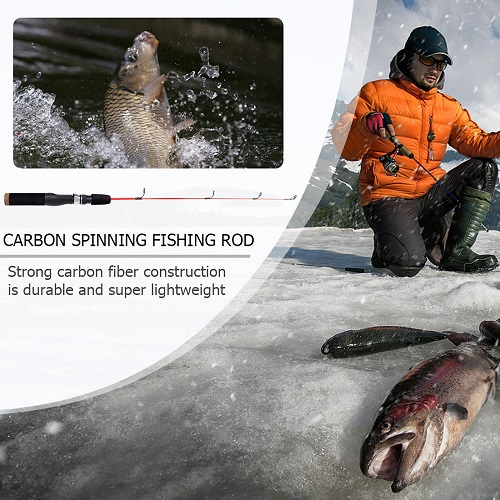PLUSINNO Ultralight Winter Ice Fishing Rod -without reel