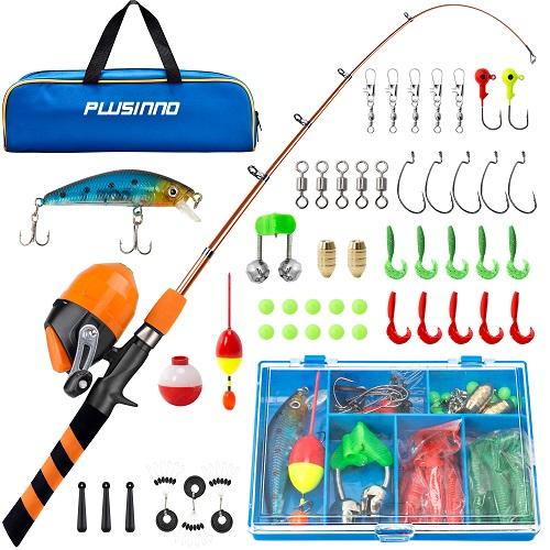 Beginner Childrens Fishing Rod Set Telescopic Fishing Rod and Reel Combos Lightweight Retractable Fishing Rod Set